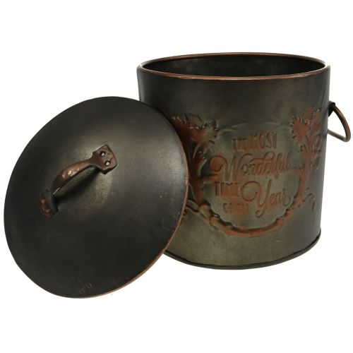 Metalltopf mit Deckel Ø17,5cm H20,5cm