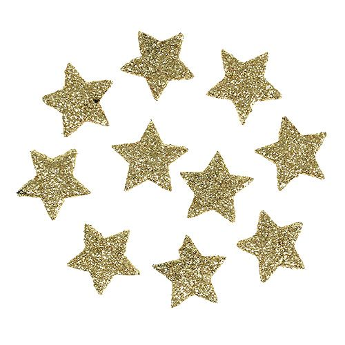Mini Glitterstern Gold 25cm 48st