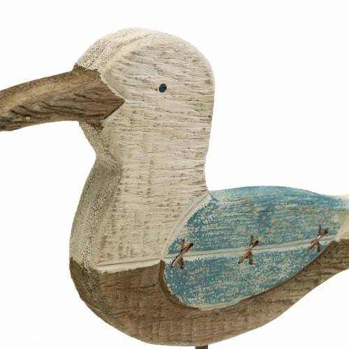Möwe Holz Blau Weiß 20cm × 5cm H25cm