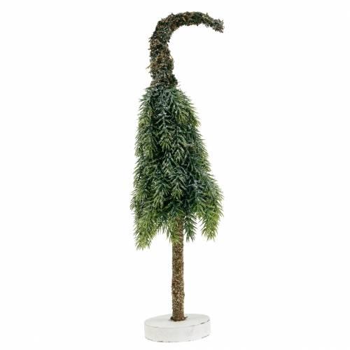 Deko Tannenbaum beschneit Grün, Weiß 40cm