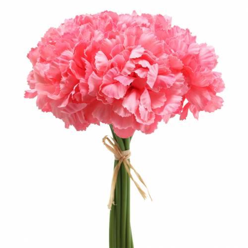 Künstliche Nelke Pink 25cm 7St