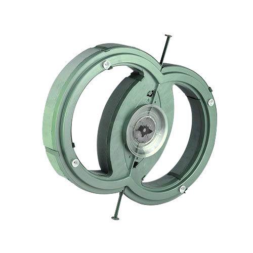 Steckschaum Auto Gesteck Doppel-Ring 55cm x 39cm H6cm 1 St