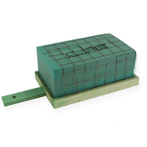 Steckschaum mit Unterlage Holz Grabschmuck maxi 4St