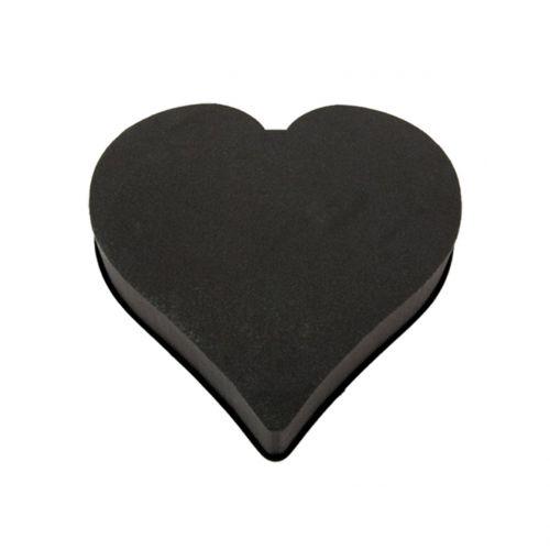 Steckschaum Herz Steckmasse Schwarz 28cm x 30cm x 5cm 2St