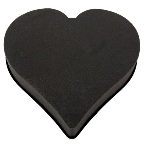 Steckschaum-Herz OASIS® Eychenne® All Black 38cm 2St