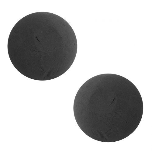 OASIS® Ideal Black Kugel aus Steckschaum Schwarz Ø16cm 2St