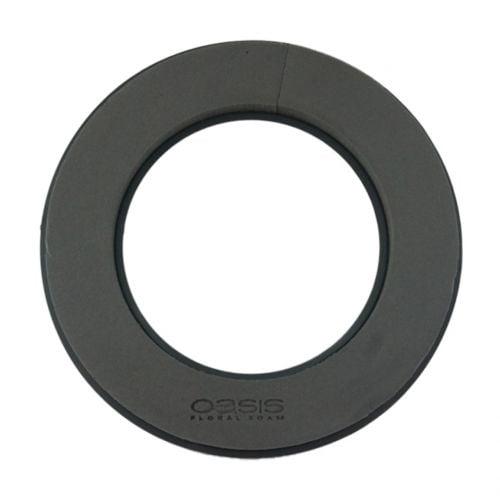 Steckschaum Kranz Ring Schwarz Ø30cm 2St