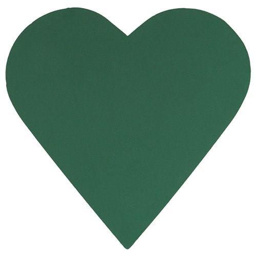 Steckschaum Herz Steckmasse Grün 53cm 2St Hochzeitsdeko