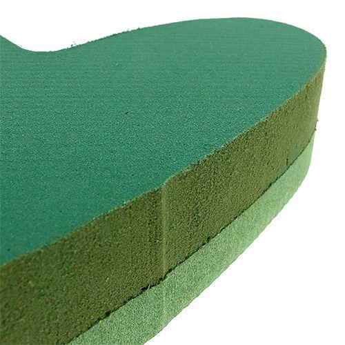 Steckmasse Herz Steckschaum Grün 24cm x 25cm 2St