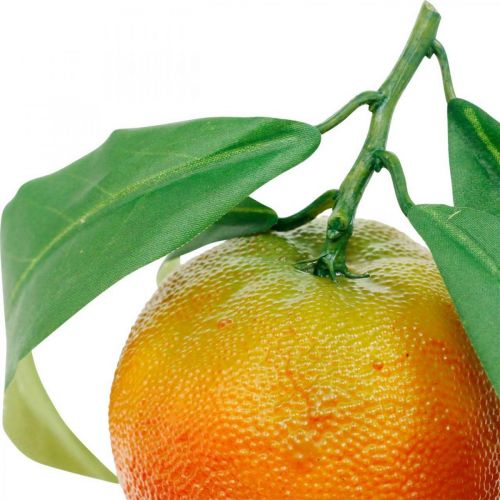 Dekofrüchte, Orangen mit Laub, Kunstobst H9cm Ø6,5cm 4St