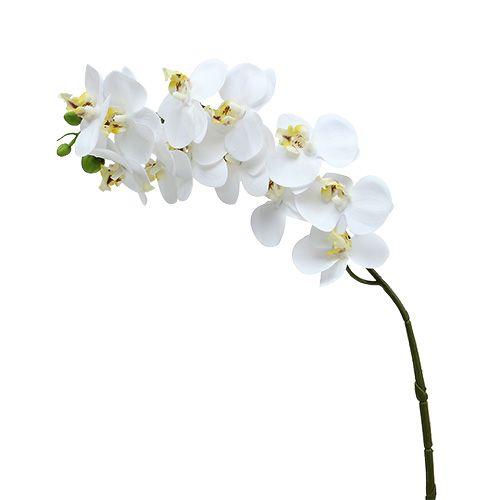 10  x Orchideenblüte weiß Blütenköpfe 14 cm x 15 cm Kunstblumen
