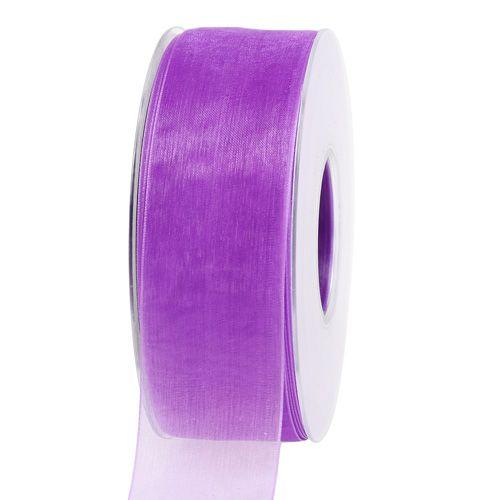 Organzaband mit Webkante 4cm 50m Violett
