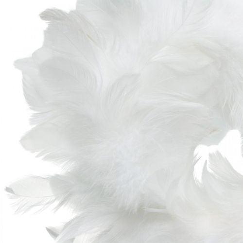 Osterdeko Federkranz Weiß Ø18cm Frühlingsdeko