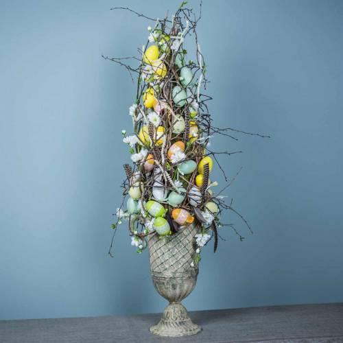 Ostereier zum Hängen Grün, Weiß, Gelb 6cm 12St