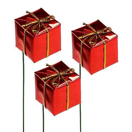 Päckchen am Draht 2,5cm Rot 60St preiswert online kaufen