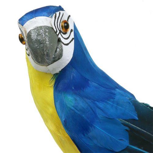 Deko Papagei Blau 44cm