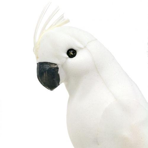 Papageien mit Federn Weiß Künstlicher Kakadu Deko-Vogel 4St