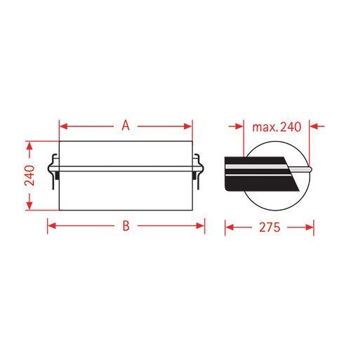 Papier Folien Wand Abroller ZAC 75 cm