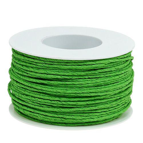 Papierkordel Draht umwickelt Ø2mm 100m Apfelgrün