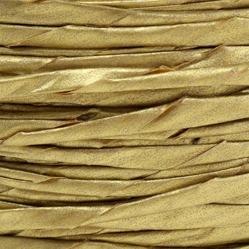 Papierkordel Gold ohne Draht Ø3mm 40m