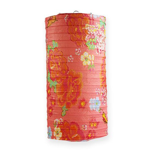 Papierlaterne mit Muster Ø18cm H40cm