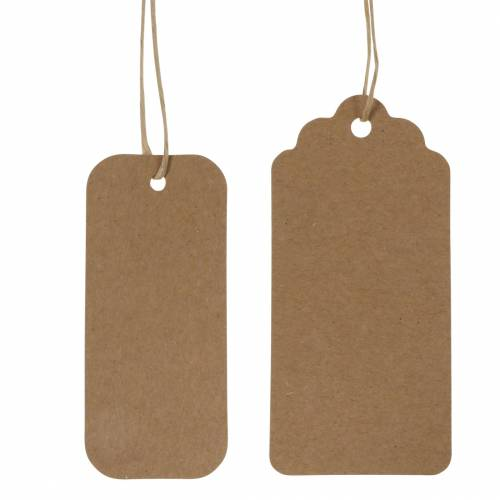Geschenkanhänger Papierschild 9,5/8cm 100St