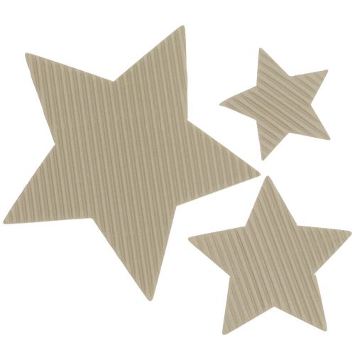 Papiersterne Mix Hellbraun 3,5cm-9cm 120St