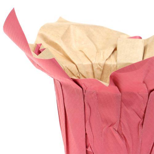 Papiertopf Übertopf Pink Ø12cm 12St