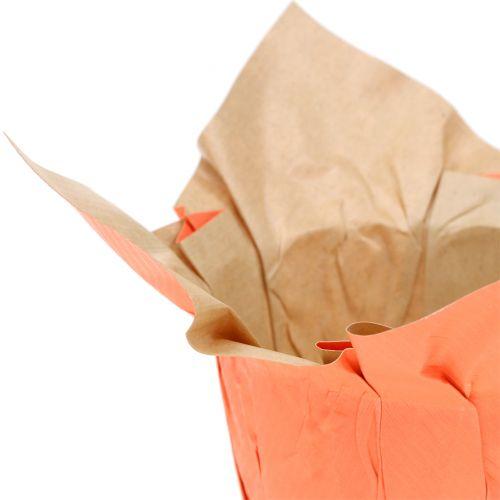 Papiertopf Übertopf Orange/Rot Ø10cm 12St