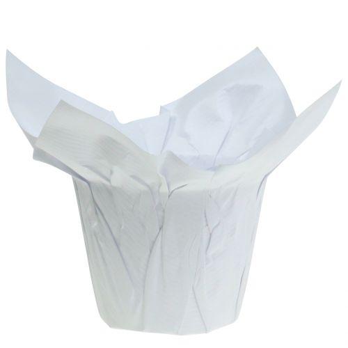 Übertöpfe aus Papier Weiß Ø10cm 12St