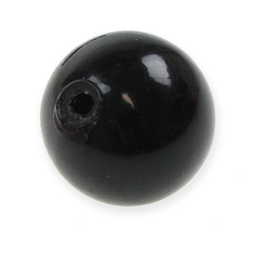 Deko-Perlen Ø2cm Schwarz 12St