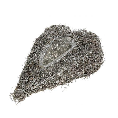 Pflanzherz aus Rebe Weiß 27cm x 17,5cm 1St
