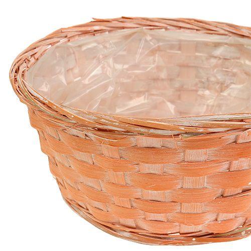 Pflanzkorb rund Ø25cm Orange, Gelb, Grün 6St