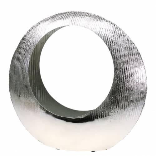 Pflanzring stehend Silber 40cm x 12cm H38cm
