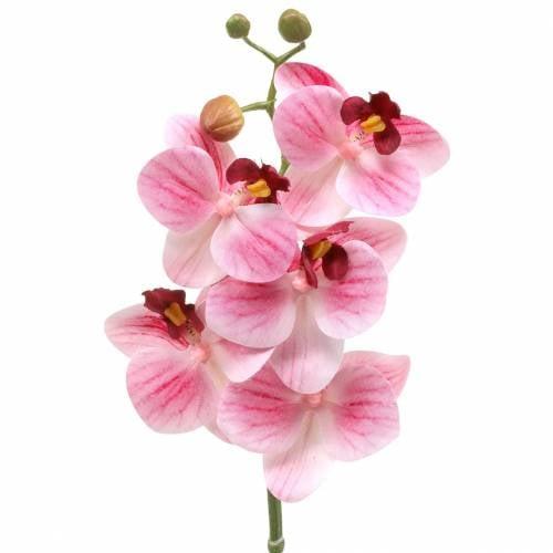 Künstlicher Orchideenzweig Phaelaenopsis Rosa H49cm