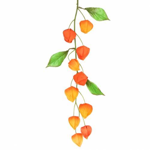 Physaliszweig künstlich Orange 78cm