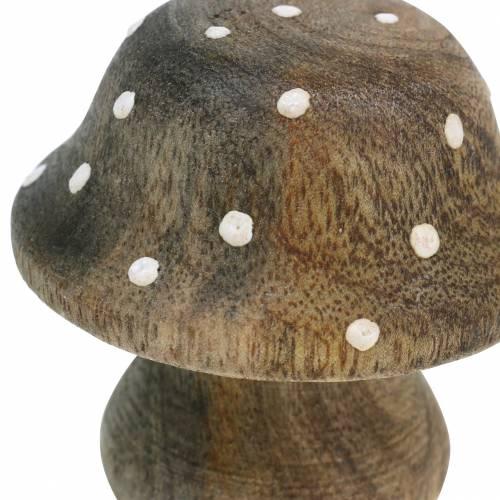 Deko Pilz Holz Natur 5cm 6St