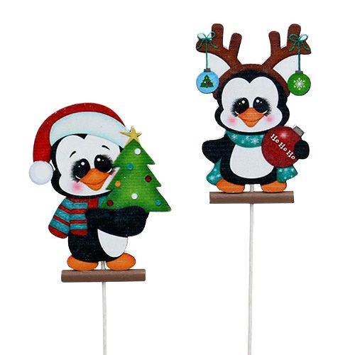 Pinguin am Stab 8,5cm 16St