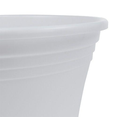 "Plastiktopf ""Irys"" Weiß Ø15cm H13cm, 1St"