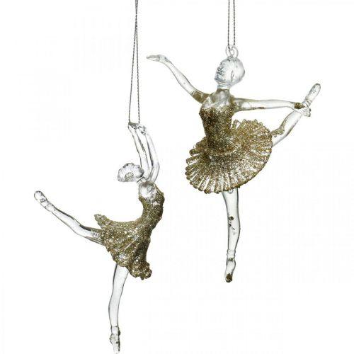 Dekohänger Tänzerin, Christbaumschmuck, Ballerina zum Hängen H14/13cm 2St