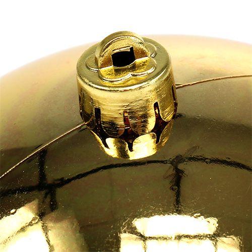 Plastikkugel Gold klein Ø14cm 1St