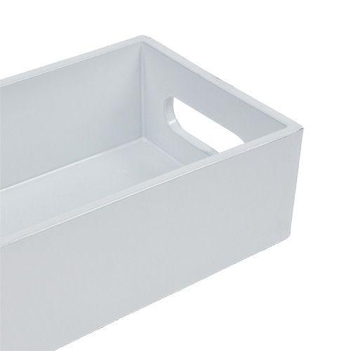 Plastikschale Weiß 42cm x 10,5cm