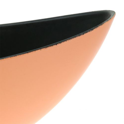 Deko-Schale Pflanzschale Aprikot 34cm x 11cm H11cm