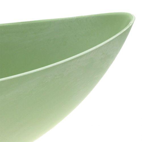 Deko-Schale Pflanzschale Pastellgrün 39cm x 12cm H13cm