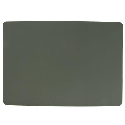 Platzset Kunstleder zum Wenden Grün, Grau 4St
