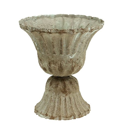 Pokal Grau gewaschen Ø12cm H13,5cm