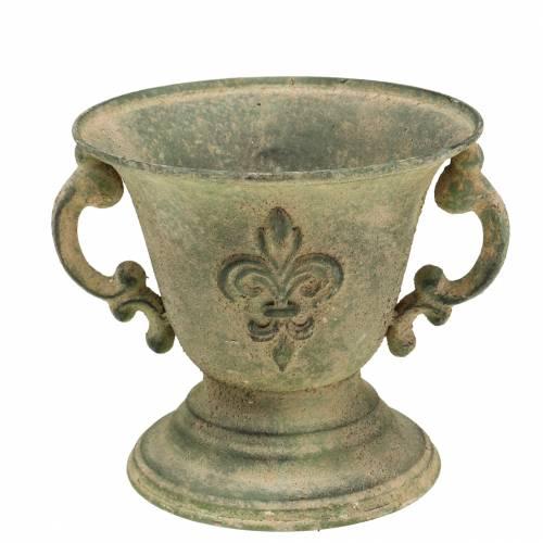 Pokal Schale Vintage Grün Ø15cm H14cm