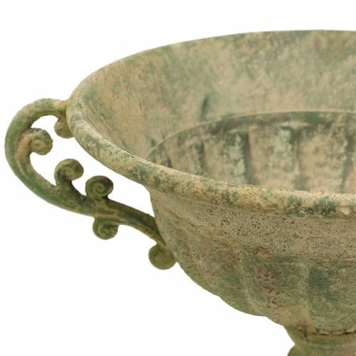 Pokal Schale Antik Grün Ø26cm H20,5cm