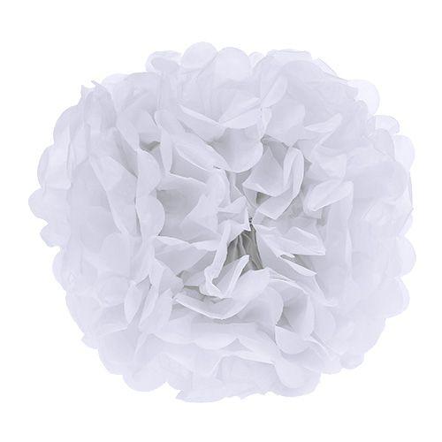 Pompom Papier Ø30cm Weiß 5St