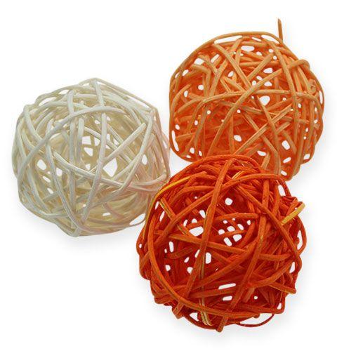 Rattanbälle 4,5cm Orange Apricot 30St